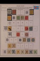 \Y ICELAND\Y 1870's - 1980's. ALL DIFFERENT Mint & Used Collection On Printed Pages. Inc 1873 P14x13½ 4sk & P12½ 3sk & 1 - Timbres