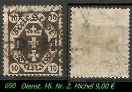 Dienstmarke - Mi. Nr. 2 - Geprüft - LANGFUHR C - Danzig