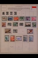 \Y INDONESIA\Y 1948-1992. ALL DIFFERENT Mint & Used Collection On Printed Pages, Many Complete Sets & Many Pages With No - Timbres