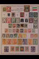 \Y IRAN\Y 1870's - 1980's. EXTENSIVE ALL DIFFERENT Mint & Used Collection On Printed Pages, Many Complete Sets & Better  - Timbres