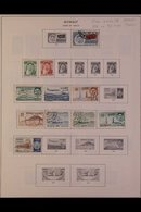 \Y KUWAIT\Y 1960's-1980's. ALL DIFFERENT Mint & Used Collection On Printed Pages, Dotted With Complete Sets, These Mainl - Timbres
