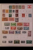 \Y LEBANON\Y 1924 - 1978. ALL DIFFERENT Mint & Used Collection On Printed Pages, Collection Strength In Pre 1960's Range - Timbres