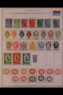 \Y LIECHTENSTEIN\Y 1917 - 1982. ALL DIFFERENT Mint & Used Collection On Printed Pages Includes Some Useful Complete Sets - Timbres