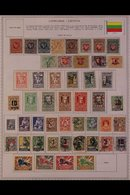 \Y LITHUANIA\Y 1919 - 1940. ALL DIFFERENT Mint & Used Collection On Printed Pages With Some Useful Complete Sets Inc Air - Timbres