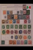 \Y MEXICO\Y 1861-1990's. EXTENSIVE ALL DIFFERENT Mint & Used Collection, Chiefly On Printed Pages, Useful Representation - Timbres