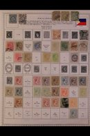 \Y PHILIPPINES\Y 1862 - 1993.EXTENSIVE ALL DIFFERENT Mint & Used Collection, Presented On Printed Pages With Many Compl - Timbres