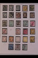 \Y PORTUGAL\Y 1853-1990. EXTENSIVE ALL DIFFERENT Mint & Used Collection On Printed Pages, Collection Strength To The 197 - Timbres