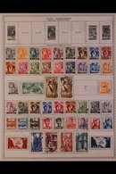 \Y SAAR\Y 1920-1959 ALL DIFFERENT Mint & Used Collection Presented On Printed Pages Providing A Useful Representation Of - Timbres
