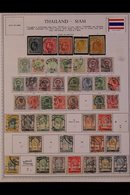 \Y THAILAND\Y 1880's - 1990's. ALL DIFFERENT Mint & Used Collection, Presented Mostly On Printed Pages With Many Complet - Timbres