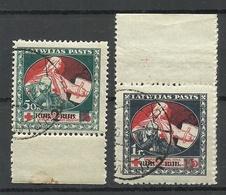 LATVIA Lettland 1921 Michel 67 - 68 Z O - Lettland