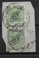 CHINA - 1901 - BUREAU ALLEMAND - PAIRE OBLITEREE Sur FRAGMENT De SHANGHAI - Offices: China