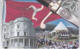 Isle Of Man, MAN 132, 3 £, Constitution, Flag, Mint In Blister, 2 Scans. - Isla De Man