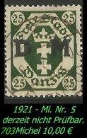 Dienstmarke - Mi. Nr. 5 - Geprüft - DANYIG 5 L - Danzig
