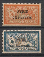 Syrie - 1924 - N°Yv. 117 - 118 - Merson 2 Valeurs - Neuf Luxe ** / MNH / Postfrisch - Syria (1919-1945)