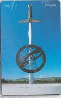 Isle Of Man, MAN 169, £10, Millenium Sculpture, Sword, Globe, Mint In Blister, 2 Scans. - Isle Of Man