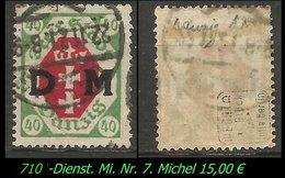 Dienstmarke - Mi. Nr. 7 - Geprüft - DANYIG 1 L - Danzig