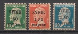 Syrie - 1924 - N°Yv. 119 - 120 - 121 - Pasteur 3 Valeurs - Neuf Luxe ** / MNH / Postfrisch - Syria (1919-1945)