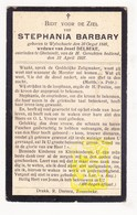 DP Stephania Barbary ° Wijtschate Heuvelland 1846 † Geluveld Zonnebeke 1927 X Josef Delbeke / Barbari Barbarie - Imágenes Religiosas