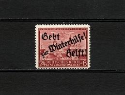 1942 Germany Occupation Poland Winterhilfe Overprint Postfrisch - 1939-44: World War Two