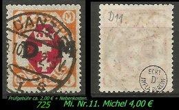 Dienstmarke - Mi. Nr. 11 - Geprüft - DANZIG 1 S - Danzig
