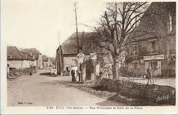 ETUZ Rue Principale Et Café De La Place - Autres Communes