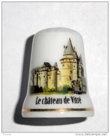 De A Coudre En Porcelaine  Chateau De Vitré - Dés à Coudre