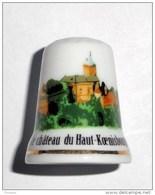 De A Coudre En Porcelaine  Chateau Du Haut Koenisbourg - Dés à Coudre