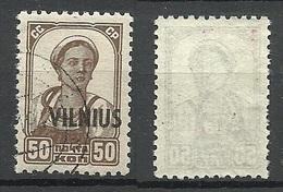LITAUEN Lithuania 1941 VILNIUS German Occupation Michel 15 O - Lituanie