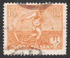 Poland - Scott #155 Used - 1919-1939 Republic