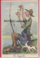 HOMME A LA PECHE---Le Dégouté---Illuqtrateur Raftray - Illustrateurs & Photographes