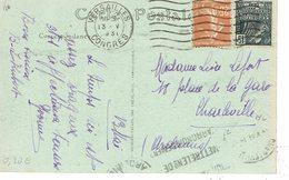 235 + 270 Semeuse Camée 25 C Jaune Brun Plus 15 C E  Flamme Versailles Congrès 13-5-1931 - 1906-38 Semeuse Camée