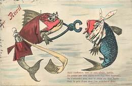 Themes Div-ref AA386- Santé - Dentisterie - Dentistes - Dents - 1er Avril -poissons Humanisés - La Rage De Dents -humour - Santé