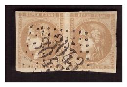 N° 43 A En Paire  Obl  GC 3043 ( LE PUY EN VELAY ) - 1870 Bordeaux Printing