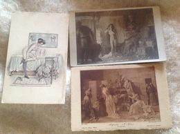Lot 3 Tableau Femme Dénudée - Peintures & Tableaux