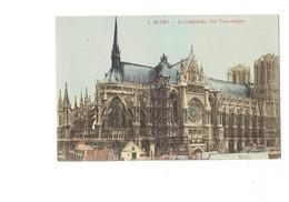 Cpm - 51 - Reims - Cathédrale - Vue Panoramique -  Travaux échafaudage - N°1 - Reims