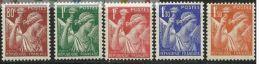 "FR YT 431 à 435 "" Type Iris Série Complète "" 1939-1941 Neuf** - 1939-44 Iris"
