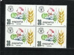 ESPAÑA, 1981, World Food Day 1v    BLOQUE DE CUATRO MNH - 1931-Aujourd'hui: II. République - ....Juan Carlos I