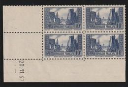 France Coin Daté Sans Charniére Du 20 11 1937 Du N° 261 Port  De La Rochelle ** 10 Francs Bleu - Angoli Datati