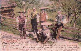 Suisse, Groupe D'armaillis, Tampon GRAND HOTEL De CAUX Sur Montreux Au Verso (6.9.1902) - Elevage