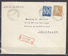 Aangetekende Brief Van Noirefontaine-Sensenruth Naar Bruxelles - 1936-51 Poortman