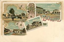 Tchéquie-Ladowitz Gruss Carte Précursseur Fin 1800 Début 1900- Maktplatz, Villa Bahnhot, Habers Gasthaus.. - Repubblica Ceca
