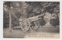 Genappe  Vue Du Parc De M Berger Butin De Guerre, Canon De 105 Pris à L'ennemi - Genappe