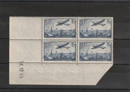 France Coin Daté Du Poste Aérienne N 9 Du 18 12 1935 ** - Coins Datés