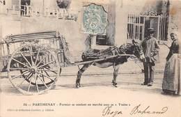 79 . N° 100316 . Parthenay . Fermier Se Rendant Au Marché Avec Sa Traine - France