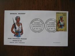 FDC - Lettre  1967  Madagascar - Tananarive  Danses Folkloriques Malgaches Danseur Du Sud - Madagascar (1960-...)