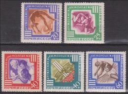 RUSIA 1957 - JUEGOS DEPORTIVOS DE LA JUVENTUD - YVERT 1943-1947** - 1923-1991 URSS