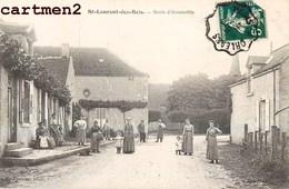 SAINT-LAURENT-DES-BOIS ROUTE D'AUTAINVILLE ANIMEE 41 LOIR-ET-CHER - Francia
