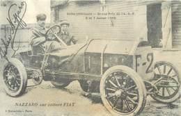 CPA 76 Seine Maritime Inférieure GRAND PRIX DE L'ACF - 6 ET 7 JUILLET 1908 - NAZZARO SUR VOITURE FIAT Course Automobile - Motorsport