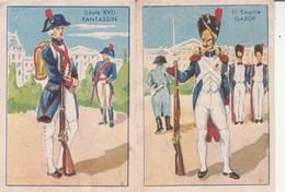 Chromos : Chocolats - Cafés - Confiseries : L. VOISIN: ( Fantassin - 1é Empire Garde ) Lot De 2 - Chocolate
