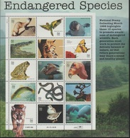 United States 1995 - Endangered Species Souvenir Sheet Mnh - Used Stamps